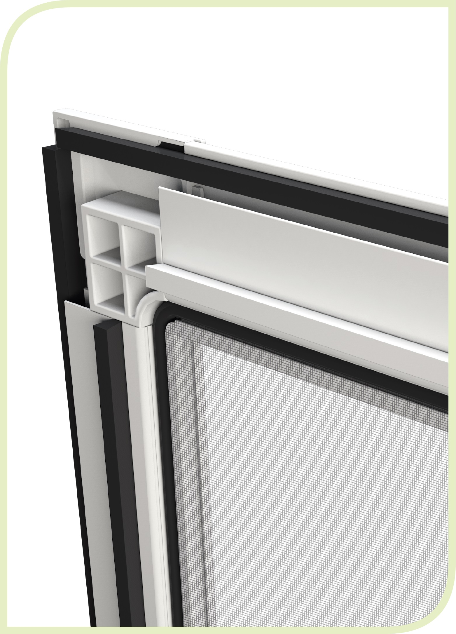 Single sliding door goss flyscreens for Single sliding screen door